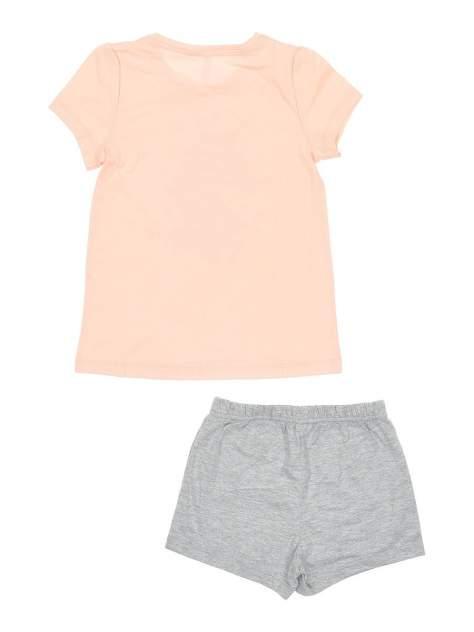 Пижама (топ и шорты) для девочек Modis цв. розовый р.116-122