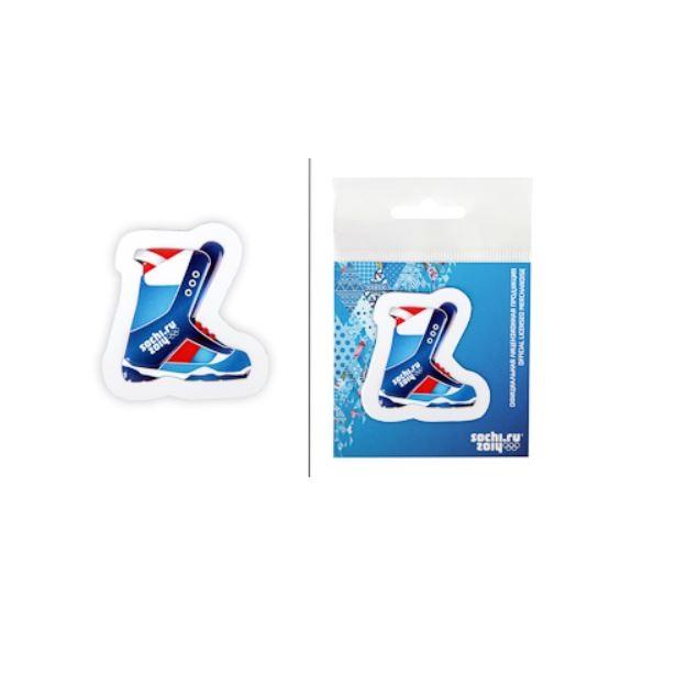 """Магнит пластиковый 3D Сочи-2014 """"Сноубордический ботинок"""""""