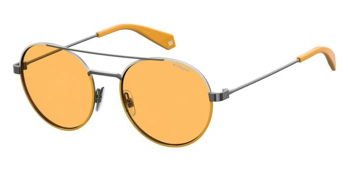 Солнцезащитные очки унисекс POLAROID PLD 6056/S серебристые