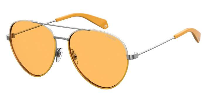 Солнцезащитные очки женские POLAROID PLD 6055/S серебристые