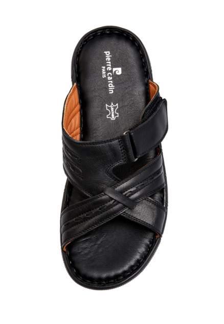 Шлепанцы мужские Pierre Cardin 03106120 черные 44 RU