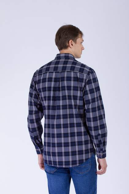 Рубашка мужская DAIROS GD81100411 синяя 60