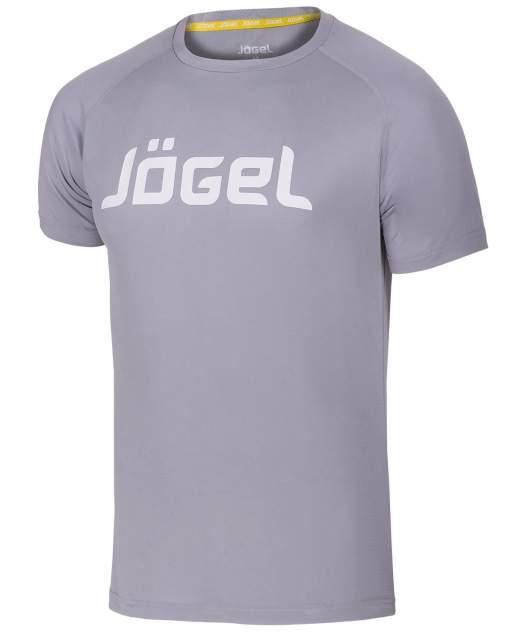 Jögel Футболка тренировочная JTT-1041-081, полиэстер, серый/белый - XL