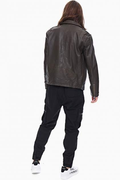 Кожаная куртка мужская Selected 16074422 хаки S INT