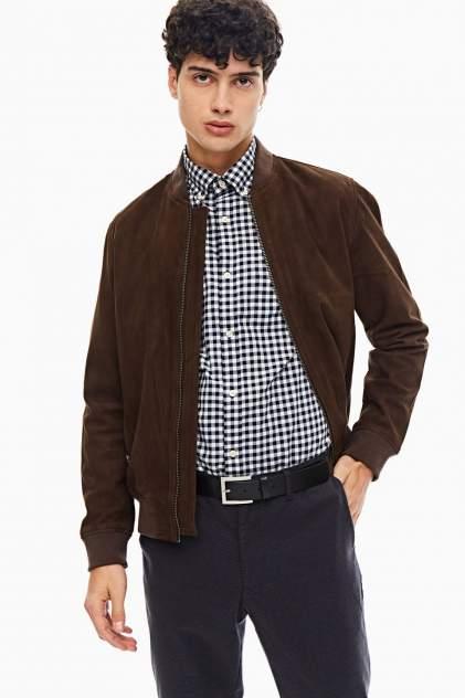 Мужская кожаная куртка Selected 16065843, коричневый