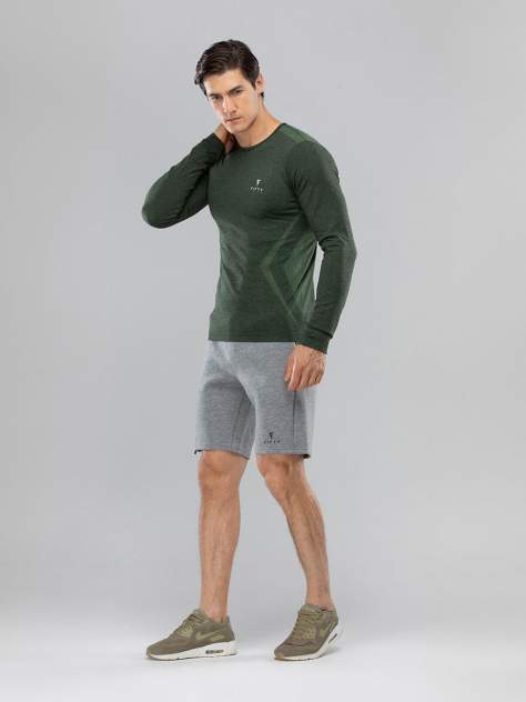 FIFTY Мужская футболка с длинным рукавом Smartknit FA-ML-0103-KHK, хаки - M