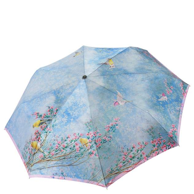 Зонт складной женский автоматический FABRETTI S-20101-6 голубой