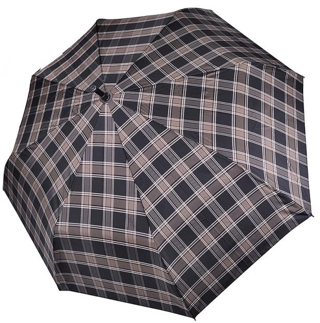 Зонт-трость мужской механический Три Слона 1771-08 черный