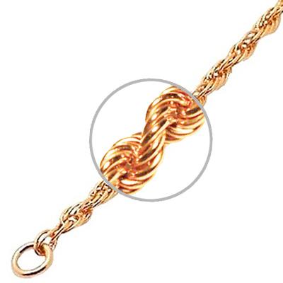 Цепочка мужская Красцветмет НЦ12-02930 красное золото 585 пробы 60 см