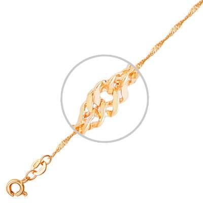 Цепочка мужская Эстет 01Ц7100135 красное золото 585 пробы 60 см