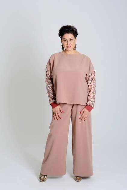 Женские брюки Миллена Шарм OverSize 46528, бежевый