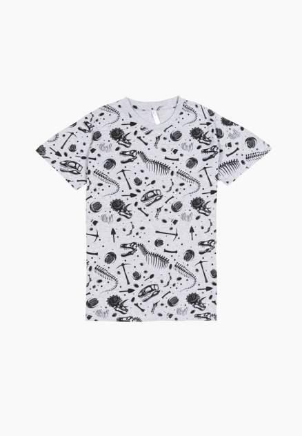 Пижама (топ и шорты) для мальчиков Modis цв. серый р.158-164