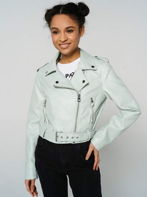 Кожаная куртка женская ТВОЕ A6591 зеленая M