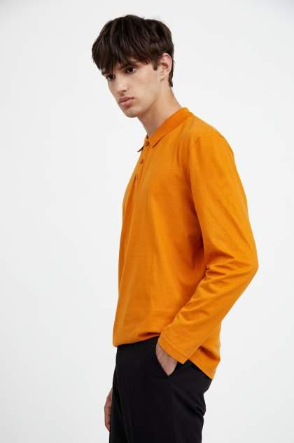 Лонгслив-поло мужской Finn Flare A20-21033 оранжевый 3XL
