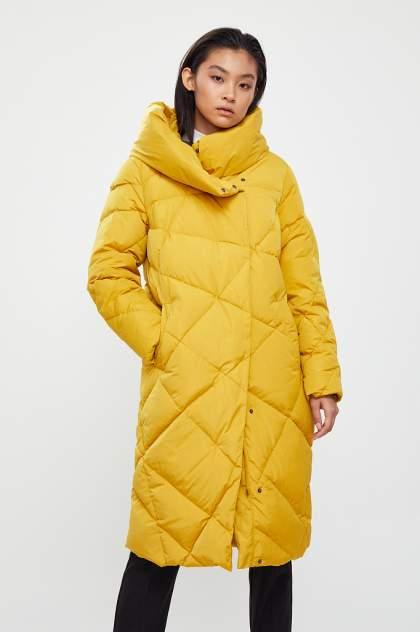 Пуховик-пальто женский Finn Flare W20-12041 желтый L