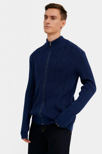 Кардиган мужской Finn Flare W20-21115, синий