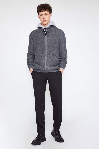 Кардиган мужской Finn Flare W20-21114 серый 2XL