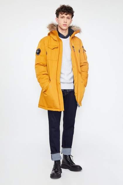 Пальто мужское Finn Flare WA20-22013 оранжевое 50
