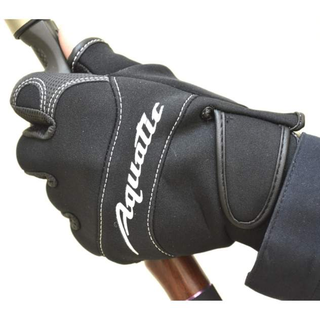 Перчатки рыболовные Aquatic ПЧ-01 (неопреновые, черные) (Размер: M)