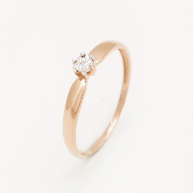 Кольцо женское НАШЕ ЗОЛОТО ЛХ01-01370-02-001-02-01 из золота с бриллиантом, р.16.5