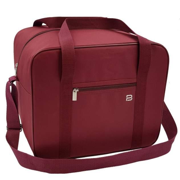 Дорожная сумка унисекс Pobedabags 05075 красно-коричневая, 36х30х27 см