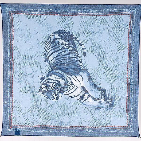 Платок женский Venera 5800272 синий, 53х53 см