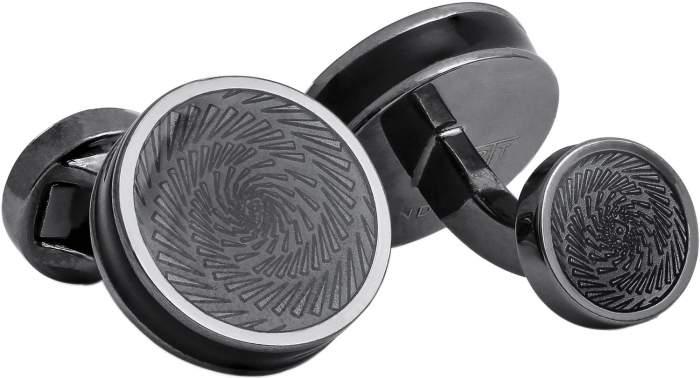 Запонки мужские Tateossian CF0073 черные