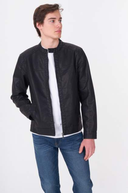 Мужская кожаная куртка ONLY & SONS 22012339, черный