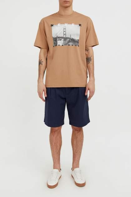 Футболка мужская Finn Flare S21-42017 коричневая 3XL