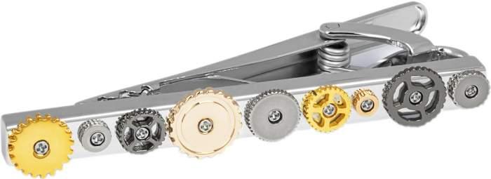 Зажим для галстука мужской Tateossian TC0157 серебристый