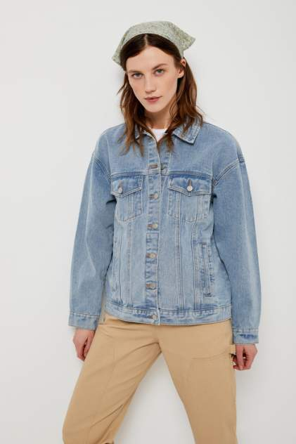 Джинсовая куртка женская Sela 1804010808 голубая 46 RU