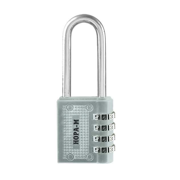 Замок навесной кодовый Нора-М 619 для чемодана - Серебро - 41 мм