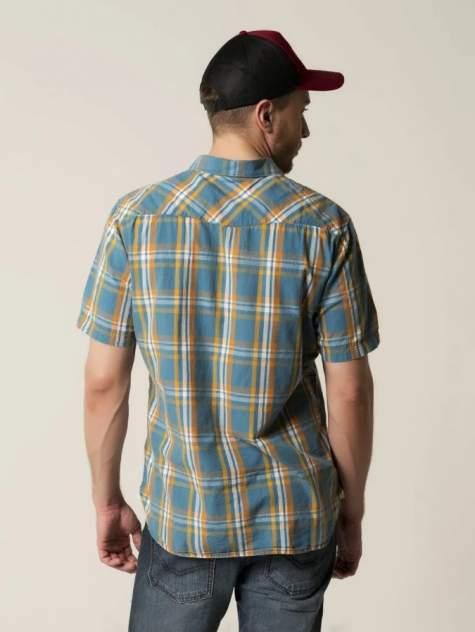 Рубашка мужская Caterpillar 2611064-98k синяя 2XL