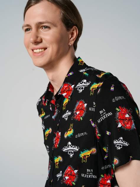 Рубашка мужская ТВОЕ A7932 черная S