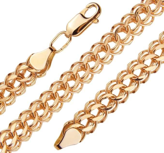 Цепочка женская ЮТД МАЙ 5125200040 красное золото 585 пробы 55 см