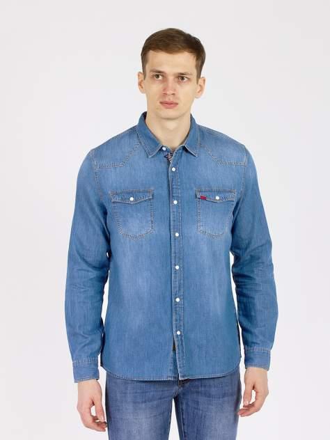 Джинсовая рубашка мужская XINT GD61200244 голубая S