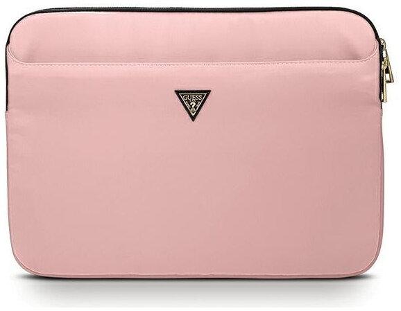 Чехол для ноутбука женский Guess Nylon with Triangle metal logo Pink