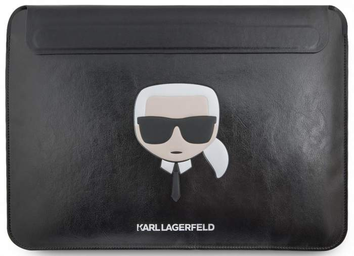 Чехол для ноутбука унисекс Karl Lagerfeld Ikonik Karl Sleeve Black