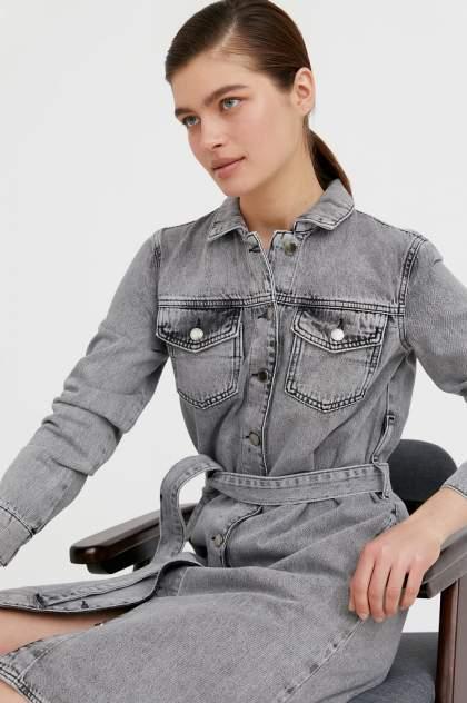 Женское платье Finn Flare B21-15030, серый