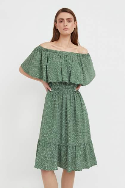 Пляжное платье женское Finn Flare S21-110106 зеленое 3XL
