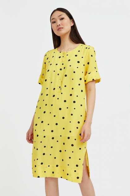 Женское платье Finn Flare S21-11048, желтый