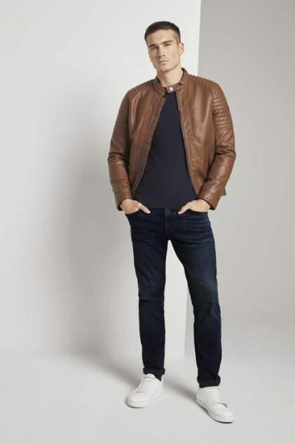 Кожаная куртка мужская TOM TAILOR 1023172 коричневая 54 RU