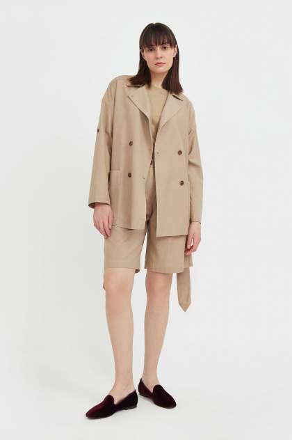 Женские шорты Finn Flare S21-11064, бежевый