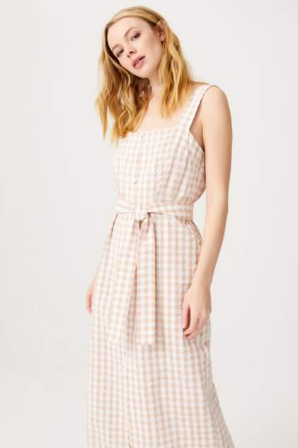 Платье-сарафан женское Sela 0806020714 бежевое 44 RU
