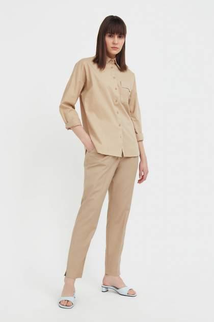 Женская блуза Finn Flare S21-11006, бежевый