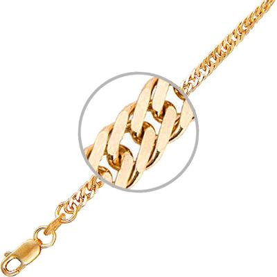 Цепочка женская Красцветмет НЦ12-028ПГ50 красное золото 585 пробы 60 см