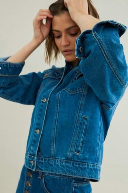 Джинсовая куртка женская ZARINA 0225447647 синяя 46 RU