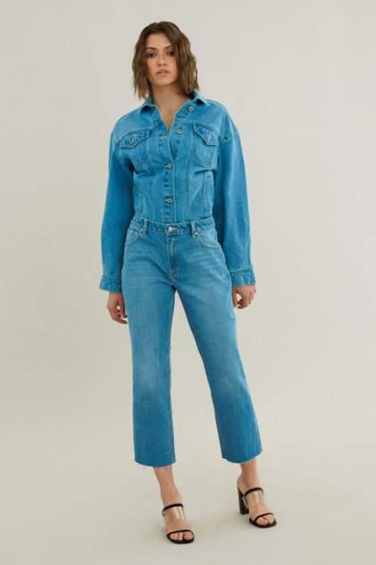 Джинсовая куртка женская ZARINA 0225447647 голубая 46 RU