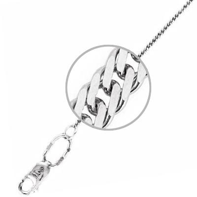 Цепочка мужская Бронницкий ювелир Т5Ц050300100 серебро 925 пробы 40 см