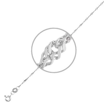 Цепочка мужская Эстет 01Ц7200125 белое золото 585 пробы 65 см